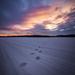Hófödte naplemente