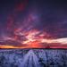 Egy havas út a naplementébe