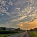Magyaregregy közelében - naplemente