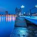 Qingdao kék órában