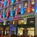 karácsonyi fényfestés a Deák F utcában