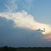 Felhős naplemente