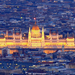 A parlament sötétedéskor