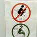 Használati utasítás a WC-n