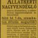 Gundel-1913Junius-AzEstHirdetes