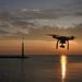 Drón naplementébenBB