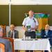 Dusnoki Csaba megnyitóbeszédet mond a konferencián és pár mondat