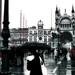 Esős Velence Olaszország. Régi kép ! Free
