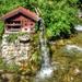 Vízimalom Patak Nyár Alpok