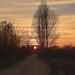 Őszi táj naplemente