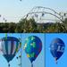 Szeged, Hőlégballonok az ablakból fotózva