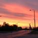 Napfelkelte a tapolcai útról nézve