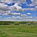 Tájkép felhőkkel