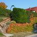 Színes kerítés ősszel