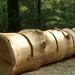 Környezetbarát sorompó az erdőben