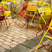 Vidám székek az esőben - Vízraktér