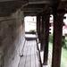 Erdély - fa templom kerengője