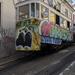 Lisbon - Glória sikló felső - felszállás a hátsó ajtón