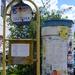 régi buszmegálló-tábla