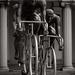 kerékpáros szoborcsoport