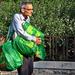 Nagy zöld táskák
