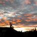 naplemente, halványodó felhők