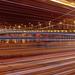 Erzsébet-híd fénnyel satírozva