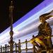 Királylány szobor fényvillamossal